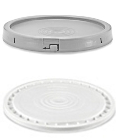 Fits 3 1/2, 5, and 7 Gallon  Plastic HDPE Buckets  Secure Seal for food and liquids