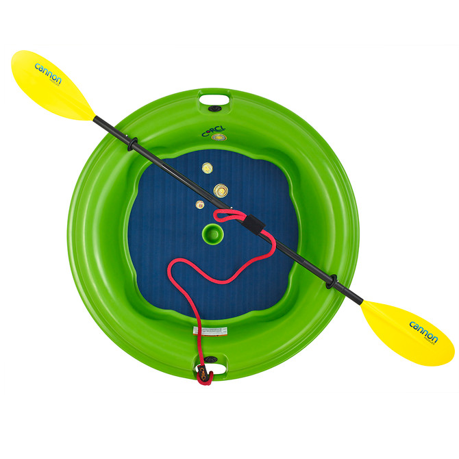 GREEN CORCL WITH FOUR PIECE PADDLE