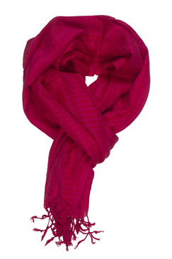 In-Sattva Colors - Checkered Print Scarf Stole - Red
