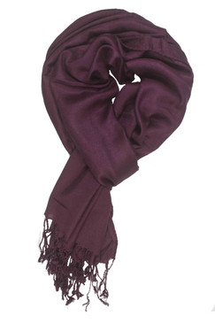 In-Sattva Colors - Soft and Elegant Solid Color Scarf Stole - Plum