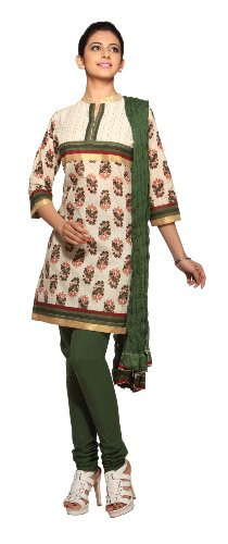 Trishaa Women's Salwaar Kameez Set with Block print - Front