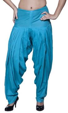 Womens Indian Ethnic Patiala Pants Turquoise