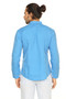 A.N.D. by Anita Dongre Double Breasted Pocket Pullover Tunic with Mandarin Collar - Back
