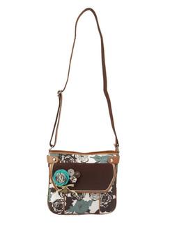 Ivory Tag Bold Floral Crossbody Bag ‰ÛÒ Front