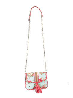 Ivory Tag Lacy Turq Crossbody Bag ‰ÛÒ Front