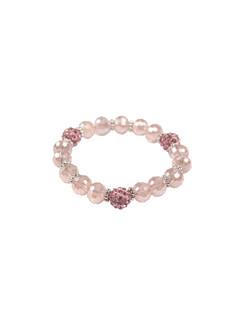 Ivory Tag Faceted Light Pink Bracelet