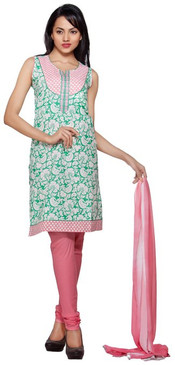 Trishaa Women's Salwaar Kameez Set- All over Printed with Contrast Yoke ‰ÛÒ Front