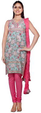 Trishaa Women's Salwaar Kameez Set- All over Floral Print ‰ÛÒ Front