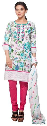 Trishaa Women's Salwaar Kameez Set- Embroidered & Lace Work ‰ÛÒ Front
