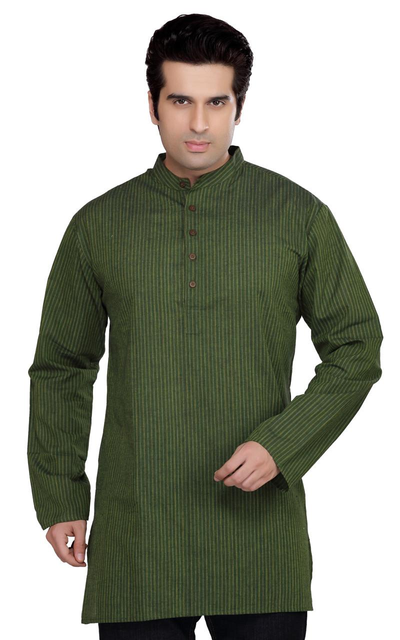 Mandarin Collar Shirt Men