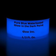 Pure Blue Water-Based Glow in the Dark Paint