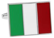 Flag of Italy Cufflinks, Italian Flag Cuff links close up image