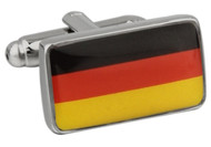 German Flag Cufflinks, Flag of Germany Cufflinks close up image