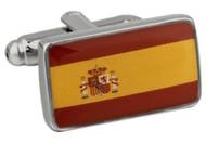 Flag of Spain Cufflinks close up image
