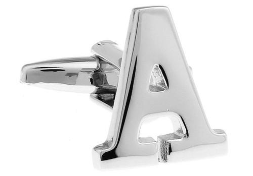 Alphabet Letter A Cufflinks close up image