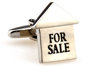 For Sale Sign Realtor Cufflinks with Presentation Gift Box