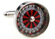 Roulette Wheel Cufflinks shown close up image