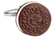 Oreo Cookie Cufflinks; Cookies & Cream Cuff-links close up image