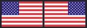 American Flag Sticker Set - Color