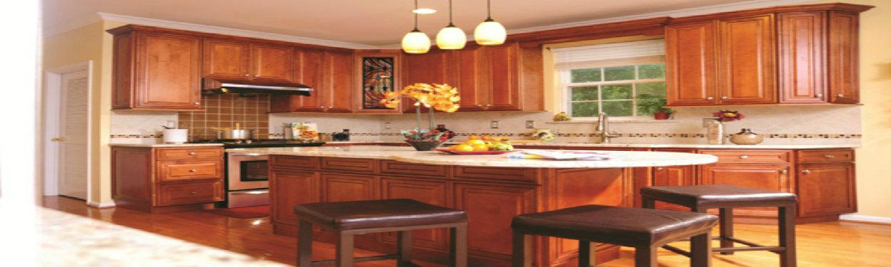 J&K Mocha Maple Glaze Cabinets