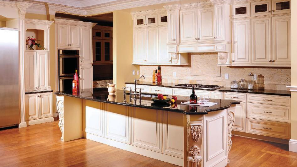 Shop for J&K Cabinets with a Creme Maple Glaze finish.
