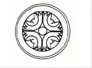 "Gregi Maple     Round Ornament  6""W x 3/4""D x 6""H"