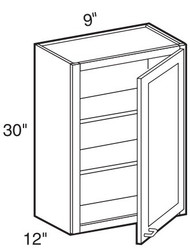 "Espresso Maple Wall Cabinet   9""W x 12""D x 30""H  W0930"