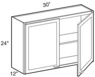 """Chocolate Maple Glaze Wall Cabinet   30""""W x 12""""D x 24""""H  W3024"""