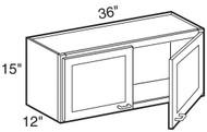 "Black Coffee Maple Wall Cabinet   36""W x 12""D x 15""H  W3615"