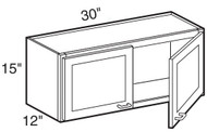 "Mahogany Maple Wall Cabinet   30""W x 12""D x 15""H  W3015"