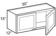"""Chocolate Maple Glaze Wall Cabinet   30""""W x 12""""D x 15""""H  W3015"""