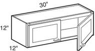 "Black Coffee Maple Wall Cabinet   30""W x 12""D x 12""H  W3012"