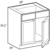 "Black Coffee Maple Sink Base Cabinet   33""W x 24""D x 34 1/2""H  SB33"