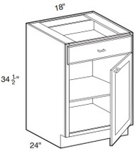 "Mocha Maple Glaze Base Cabinet   18""W x 24""D x 34 1/2""H  B18"