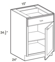 "Mocha Maple Glaze Base Cabinet   15""W x 24""D x 34 1/2""H  B15"