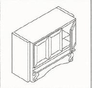 White Shaker Maple RHS483618 Mantle