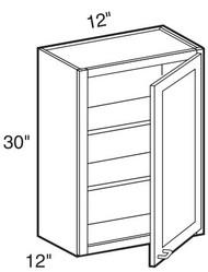 "Pearl Maple Glaze Wall Cabinet   12""W x 12""D x 30""H  W1230"