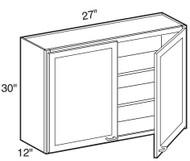 "Pearl Maple Glaze Wall Cabinet   27""W x 12""D x 30""H  W2730"