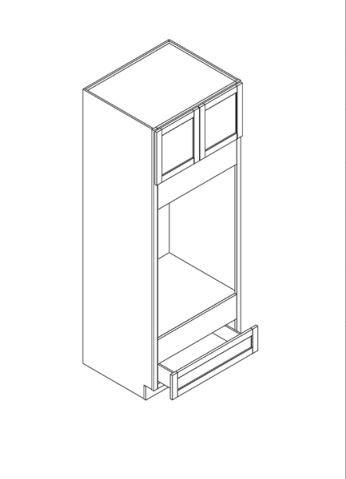 "Pearl Maple Glaze Double Oven Cabinet   30""W x 27""D x 84""H  OC308427WO"
