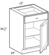 "Perla Base Cabinet   12""W x 24""D x 34 1/2""H  B12"