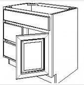 "Ebony Shaker  Vanity Base Cabinet  Door on the Right  30""W x 21""D x 33""H  FA3021DR"