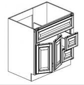 "Ebony Shaker  Vanity Base Cabinet  Door on the Left  36""W x 21""D x 33""H  FA3621DL"