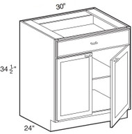 "Sterling  Base Cabinet   30""W x 24""D x 34 1/2""H  B30"