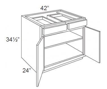 """Ebony Shaker  Base Cabinet   42""""W x 24""""D x 34 1/2""""H  B42"""
