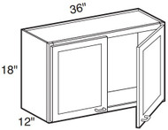"Sterling  Wall Cabinet   36""W x 12""D x 18""H  W3618"