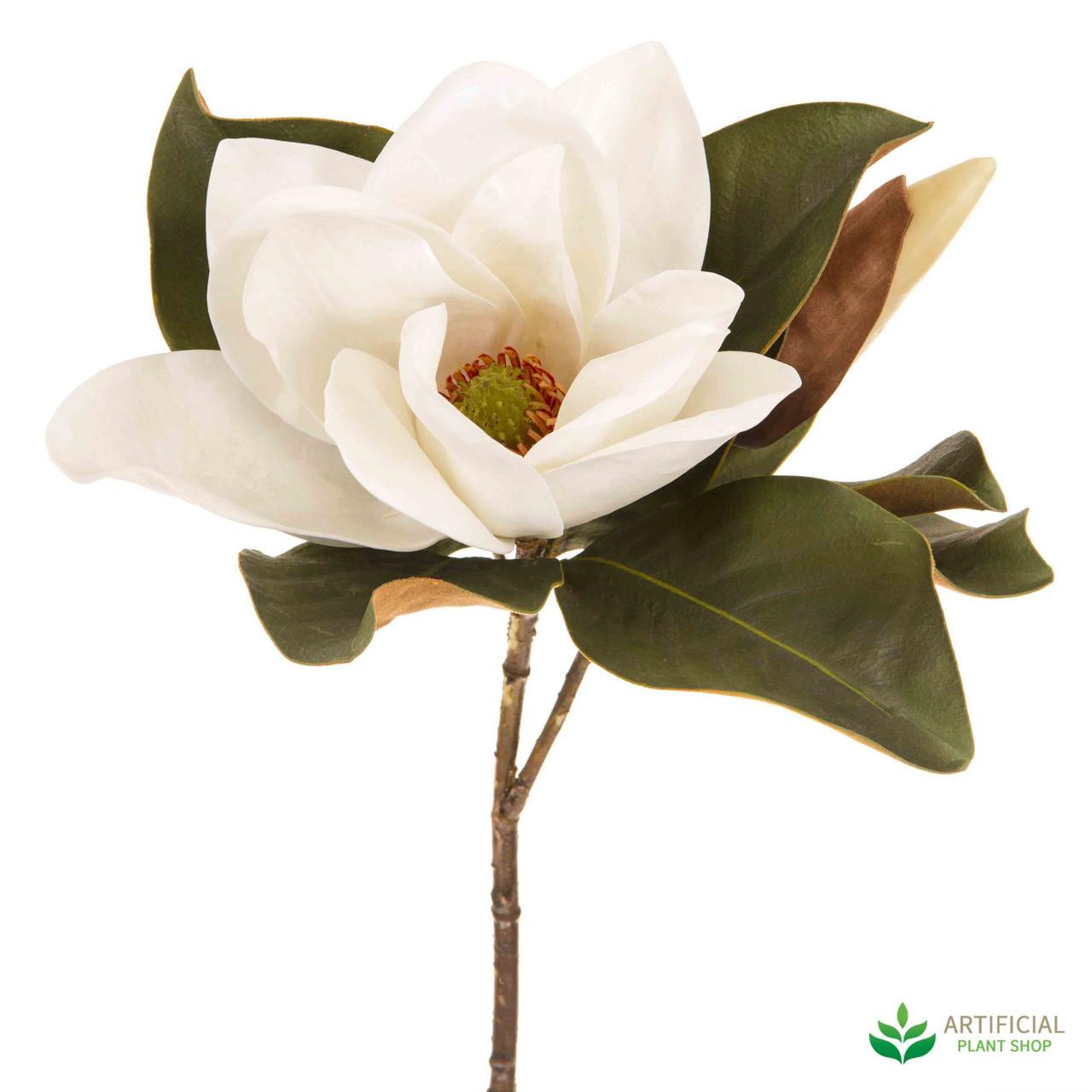 White magnolia flower 72cm image 1 mightylinksfo