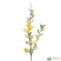 Yellow Mimosa Spray 1.1m (pack of 6)