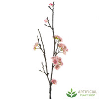 Pink Peach Blossom Spray 80cm (pack of 6)