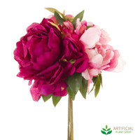 Mixed Pink Peony Bouquet 30cm (pack of 6)