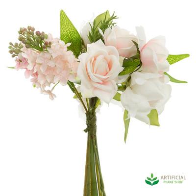 Hydrangea/ Peony Pink Mix Bouquet 25cm (pack of 6)